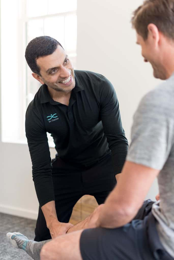 Chiropractic leg treatment